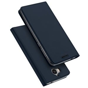 DUX DUCIS Skin Pro Series Stand Leather Cover for Huawei Y6 (2017) / Y5 (2017) - Dark Blue