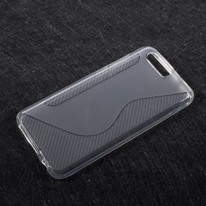 S-line Carbon Matte TPU Phone Cover for Huawei Honor 9 - White