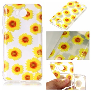 Pattern Printing Embossed TPU Case for Huawei Y5 (2017) / Y6 (2017) - Chrysanthemum Pattern
