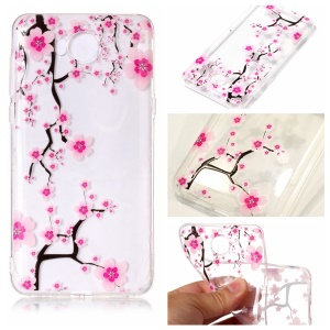 Pattern Printing Embossed TPU Shell Case for Huawei Y5 (2017) / Y6 (2017) - Plum Blossom