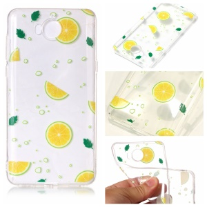 Pattern Printing Embossed TPU Protection Case for Huawei Y5 (2017) / Y6 (2017) - Lemon Slice