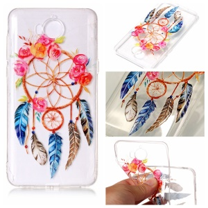Pattern Printing Embossed TPU Soft Case for Huawei Y5 (2017) / Y6 (2017) - Dream Catcher