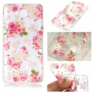 Pattern Printing Embossed TPU Flexible Case for Huawei Y5 (2017) / Y6 (2017) - Vivid Flowers