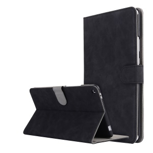 Retro Leather Wallet Stand Case for Huawei MediaPad T3 8.0 - Black