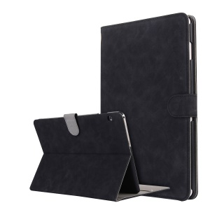 Retro Style Flip Leather Cover Stand Case with Card Slots for Huawei MediaPad T3 10 - Black
