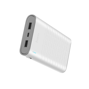 HOCO B31-20000 Rege 20000mAh Power Bank Portable Mobile Battery Charger for iPhone X/8/8 Plus Etc. - White