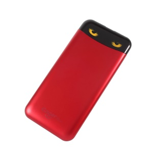 CAGER S98 Magic Eyes 10000mAh Power Bank with Charging Cables for iPhone iPad Samsung - Red