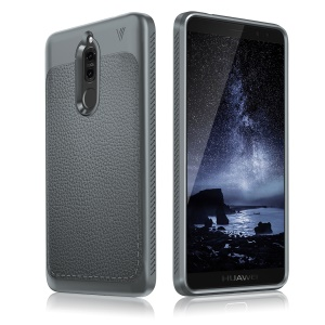 IVSO Gentry Series Leather Coated TPU Phone Cover for Huawei Mate 10 Lite / nova 2i / Maimang 6 - Grey