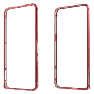 Metal Bumper Case with Hippocampal Buckle for Huawei Nexus 6P - Red