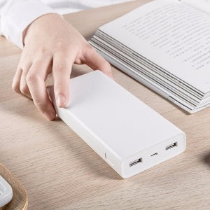 XIAOMI 2C 20000mAh Mi Quick Charge Portable Power Bank for Xiaomi, iPhone iPad Samsung HTC, Google Smartphone Tablets - White