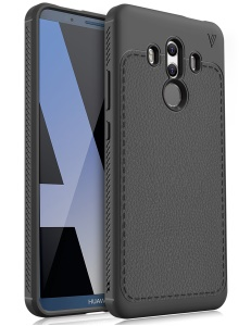 IVSO Gentry Series Leather Coated TPU Back Case for Huawei Mate 10 Pro - Black