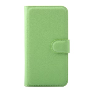Litchi Grain PU Leather Case Cover for Huawei Y5 Y560 - Green