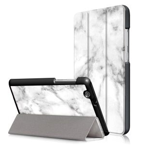 Pattern Printing Tri-fold Stand Leather Case for Huawei MediaPad T3 7.0 3G - Marble Pattern