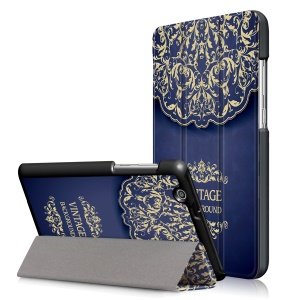 Pattern Printing Tri-fold Stand Leather Case for Huawei MediaPad T3 7.0 3G - Vintage Background Pattern