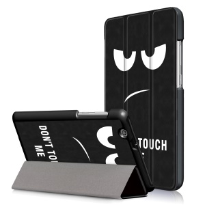 Pattern Printing Tri-fold Stand Leather Case for Huawei MediaPad T3 7.0 3G - Do Not Touch Me