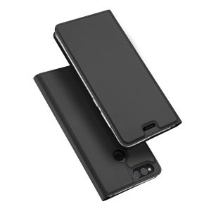 DUX DUCIS Skin Pro Series Leather Shell with Stand for Huawei Honor 7X - Black