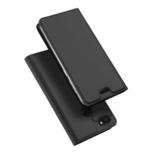 DUX DUCIS Skin Pro Series for Huawei P9 lite mini / Enjoy 7 / Y6 Pro (2017) Business Leather Mobile Accessory Case Stand - Dark Grey