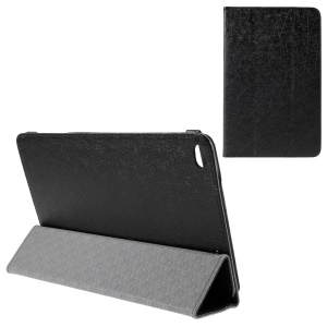 Lines Texture Tri-fold Leather Tablet Case for Huawei MediaPad T1 10 - Black