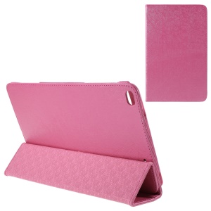 Lines Texture Tri-fold Leather Flip Case for Huawei MediaPad T1 10 - Rose