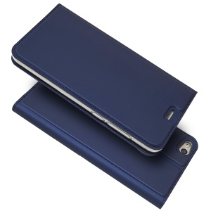 Magnetic Card Holder Stand Leather Mobile Phone Cover for Huawei P8 Lite (2017) / Honor 8 Lite - Dark Blue
