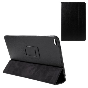 Litchi Texture Stand Leather Case Cover for Huawei MediaPad T1 10 - Black