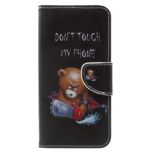 Pattern Printing Leather Wallet Cover Case for Huawei Mate 10 Lite / nova 2i / Maimang 6 / Honor 9i (India) - Brown Bear