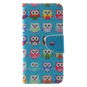 Pattern Printing Leather Stand Shell Case for Huawei Mate 10 Lite / nova 2i / Maimang 6 / Honor 9i (India) - Multiple Owls