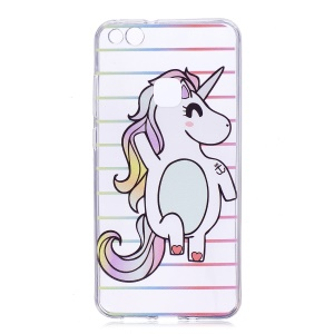Pattern Printing TPU Protective Case for Huawei P10 Lite - Unicorn Pattern