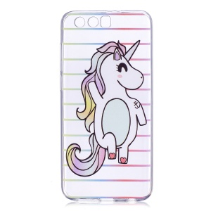 Pattern Printing TPU Protective Case for Huawei Honor 9 - Unicorn Pattern