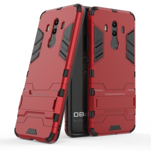 For Huawei Mate 10 Pro Shockproof PC + TPU Hybrid Kickstand Cell Phone Cover - Red