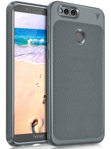 LENUO Gentlemen Series Soft TPU Phone Cover for Honor 7X - Grey