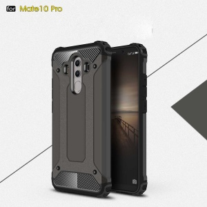 For Huawei Mate 10 Pro Armor Guard Plastic + TPU Combo Shell Case - Coffee