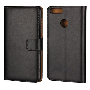 Crazy Horse Genuine Leather Magnetic Wallet Case for Huawei Honor 7X - Black