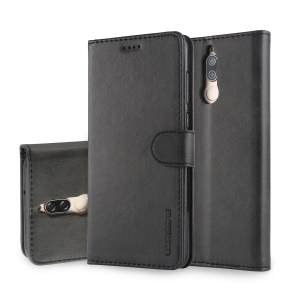 LC.IMEEKE for Huawei Mate 10 Lite / nova 2i / Maimang 6 PU Leather Wallet Stand Case with Card Slots - Black