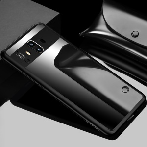 USAMS Mant Series Clear PC + TPU Frame Hybrid Case for Huawei Mate 10 - Black