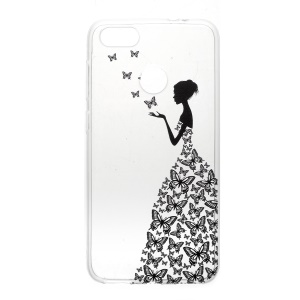 Pattern Printing TPU Casing for Huawei Y6 Pro (2017) / Enjoy 7 / P9 lite mini - Butterfly Girl