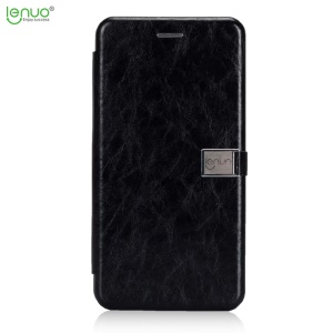 LENUO Crazy Horse PU Leather Card Holder Mobile Cover for Huawei Mate 10 Lite / nova 2i / Maimang 6 - Black