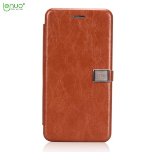 LENUO Crazy Horse PU Leather Case with Card Slot for Huawei Mate 10 Lite / nova 2i / Maimang 6 - Brown