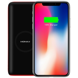 MOMAX QPower 2 Qi Wireless Charging Pad + Power Bank 10000mAh for iPhone X/8/8 Plus etc. - Black