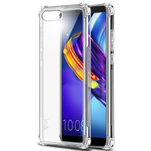 IMAK Smooth Feel Anti-drop Airbag TPU Phone Shell + Explosion-proof Screen Film for Huawei Honor V10 - Transparent