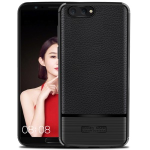 Litchi Texture TPU Phone Case for Huawei Honor View 10 / V10 - Black