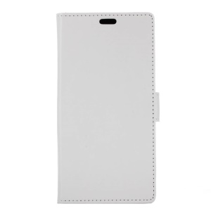 Crazy Horse Stand Wallet Leather Cell Phone Cover for Huawei Enjoy 7 Plus / Y7 Prime / Y7 (2017) - White