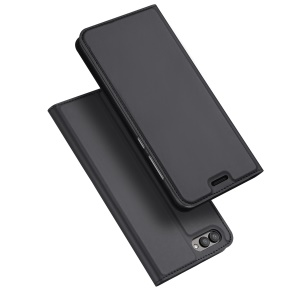 DUX DUCIS Skin Pro Series for Huawei Honor V10/View 10 Business Leather Phone Case with Card Slot - Black
