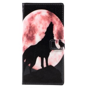 Wolf Howling At Full Moon Night
