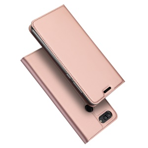 DUX DUCIS Skin Pro Series Stand Leather Card Holder Case for Huawei Honor 9 Youth Edition/Honor 9 Lite - Rose Gold