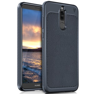 LENUO Gentlemen Series Soft TPU Cover Case for Huawei Mate 10 Lite / nova 2i / Maimang 6 / Honor 9i (India) - Dark Blue