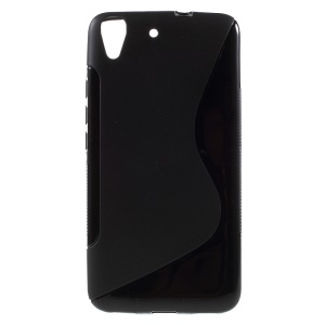 S Shape Soft TPU Case Cover for Huawei Honor 4A / Y6 - Black