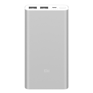 XIAOMI Mobile Power Bank 2 10000mAh External Battery Charger for iPhone Samsung Xiaomi etc. - Silver Color