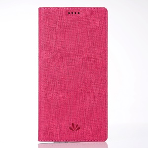 VILI DMX Cross Texture Card Holder Leather Stand Casing for Huawei Honor View 10 / V10 - Rose