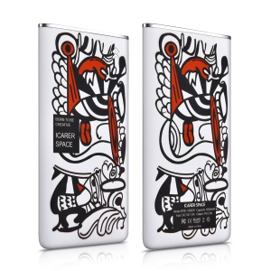 ICARER SPACE Patterned Ultra-thin 5000mAh External Mobile Battery for iPhone Samsung Huawei - Abstract Painting
